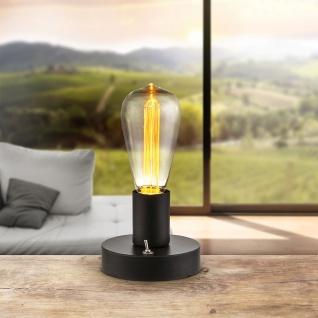 Fanal Ii Tischleuchte LED / Edison Dekor Leuchtmittel / Schwarz, Klar