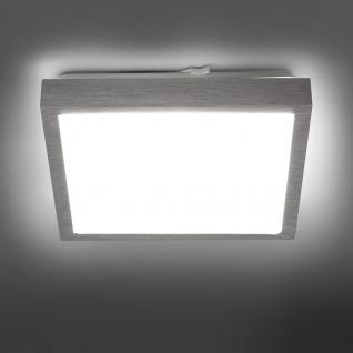 licht trend led deckenleuchte 30 x 30 cm alu matt. Black Bedroom Furniture Sets. Home Design Ideas