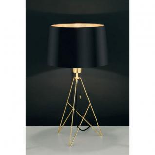 Eglo 39179 Camporale modische Tischleuchte h56 cm / Schwarz, Gold / Tischlampe E27
