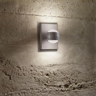 Sesimba LED / Aussen-Wandleuchte mit Glaslinsen Up&Down / grau