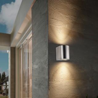 s.LUCE Radial / LED-Aussen-Wandleuchte Up&Down rund / Edelstahl / Wandlampe
