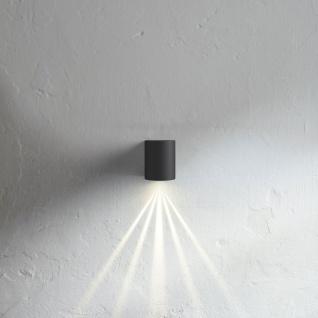 Licht-Trend Baleno / LED-Wandleuchte IP44 / mit Lichtfilter / schwarz / Wandlampe