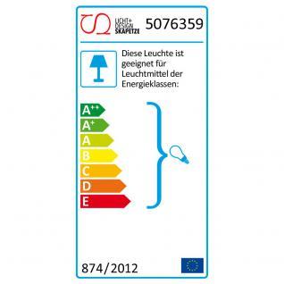 s.LUCE Twine M Deckenlampe mit Stoffschirm / Textillampe Stoffleuchte Silber - Vorschau 5