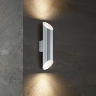 Agolada / LED Aussen-Wandleuchte / 2-flammig / Edelstahl Wandlampe Aussen