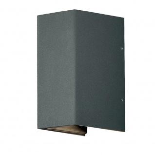 Nordlux Norma / LED Aussen-Wandleuchte / 2 x 167 Lumen / grau / Wandlampe - Vorschau 2