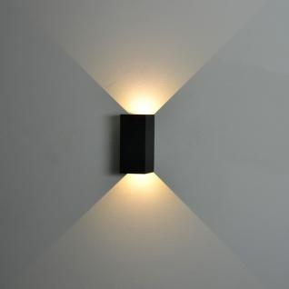 Nordlux Norma / LED Aussen-Wandleuchte / 2 x 167 Lumen / grau / Wandlampe