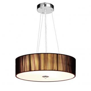 s.LUCE Twine M Stoff-Hängeleuchte / Hängelampe Stofflampe Braun - Vorschau 2