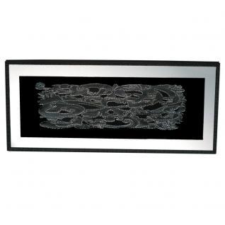 Carve Relief 3D Bild mit Tiefe, 70x160cm, schwarz/silber/Spiegel