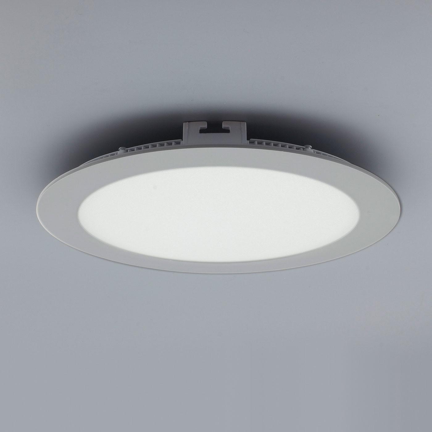 licht design 30566 einbau led panel 1440 lumen 22 cm neutral silber kaufen bei licht. Black Bedroom Furniture Sets. Home Design Ideas
