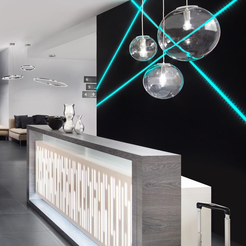 s luce mylight orb m pendelleuchte 20 cm klar pendellampe glaskugel glas kaufen bei. Black Bedroom Furniture Sets. Home Design Ideas
