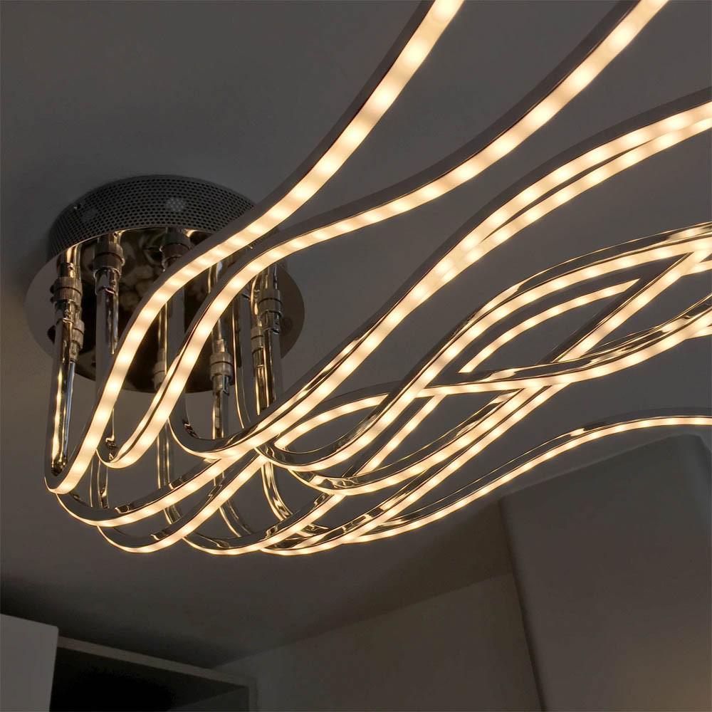 wofi benett led deckenleuchte 2800 lumen 150 cm chrom deckenlampe kaufen bei licht. Black Bedroom Furniture Sets. Home Design Ideas