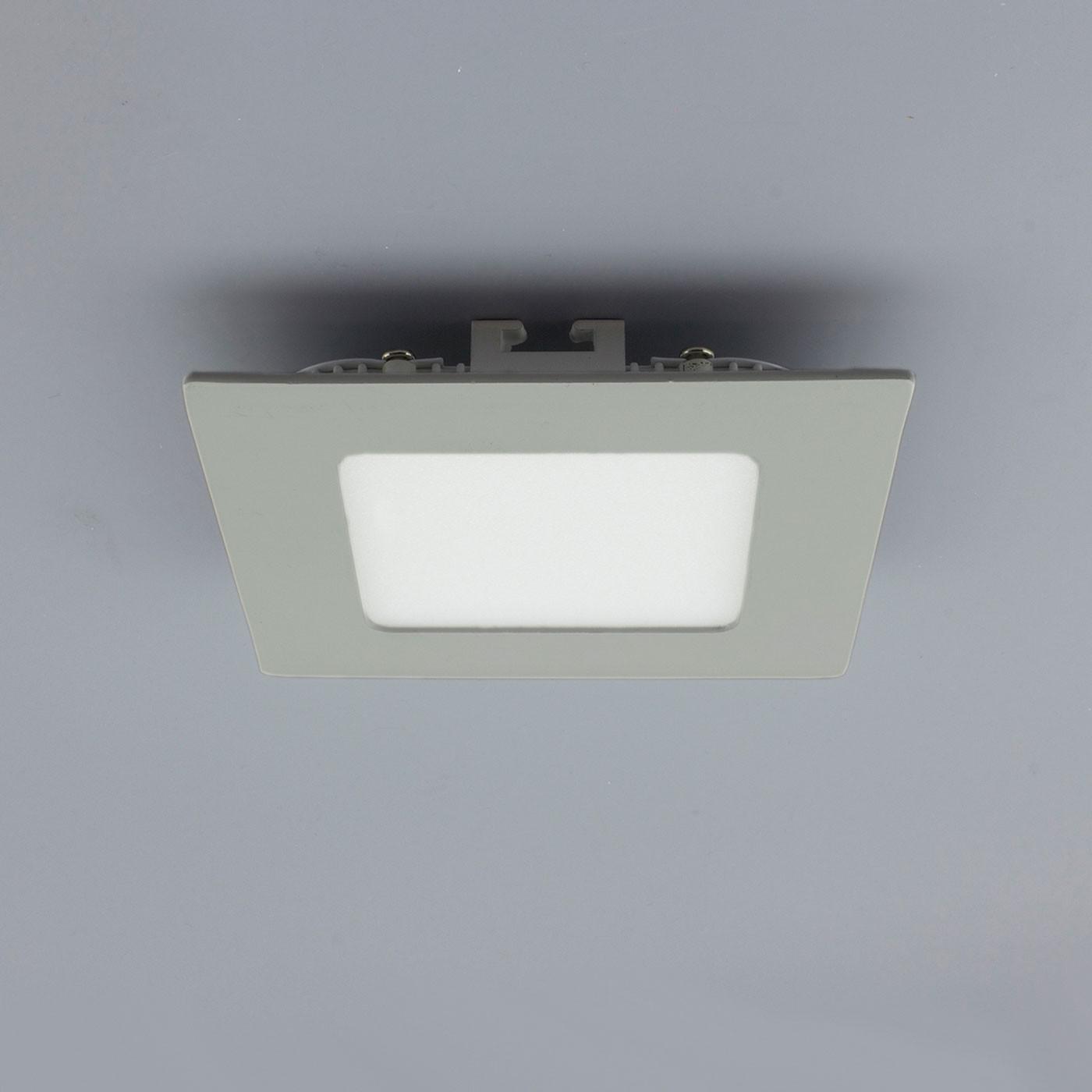 licht design 30838 einbau led panel 200 lumen dimmbar 9x9 cm warm silber kaufen bei. Black Bedroom Furniture Sets. Home Design Ideas
