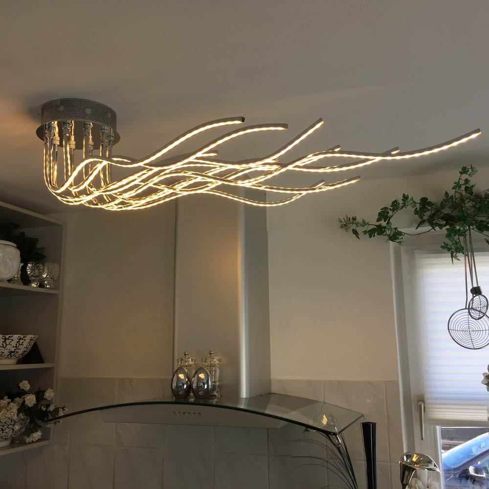 licht trend sculli design led deckenleuchte mit metallarmen led deckenlampe kaufen bei licht. Black Bedroom Furniture Sets. Home Design Ideas