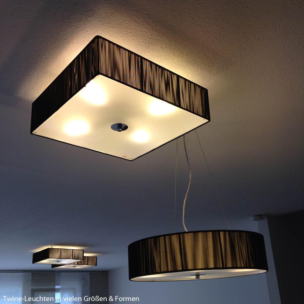 s luce twine l deckenleuchte mit textilschirm deckenlampe schwarz kaufen bei licht design. Black Bedroom Furniture Sets. Home Design Ideas