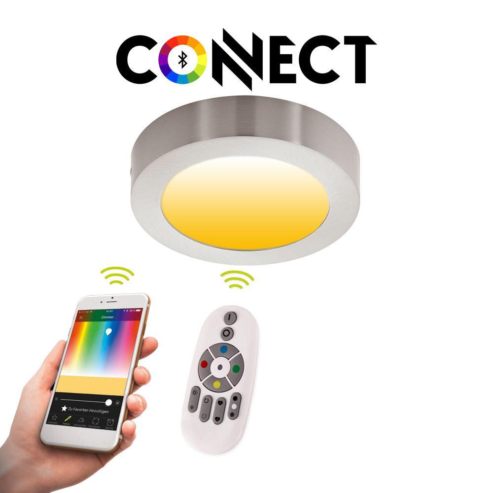 Designer Deckenleuchte Roma 30 Kaufen: Connect LED-Deckenleuchte Ø30 Cm Alu-Matt / 2300 Lumen