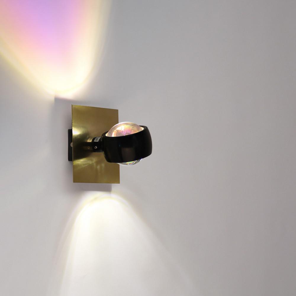 s luce beam wandleuchte up down mit glaslinsen. Black Bedroom Furniture Sets. Home Design Ideas