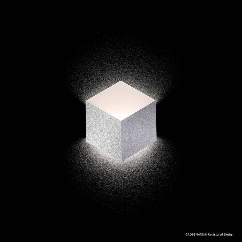 grossmann 52 779 072 geo led wandleuchte 1 flammig 27 x 30 cm alu matt kaufen bei licht. Black Bedroom Furniture Sets. Home Design Ideas
