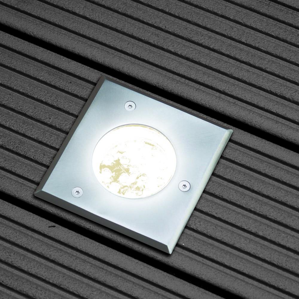 s luce level edelstahl bodeneinbaustrahler eckig ip67 einbaulampe aussen kaufen bei. Black Bedroom Furniture Sets. Home Design Ideas