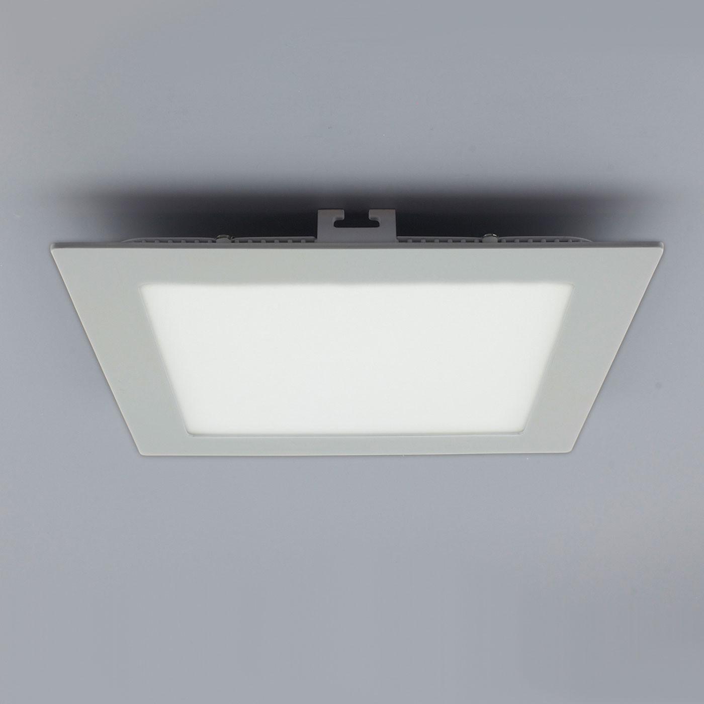 licht design 30552 einbau led panel 960 lumen 17x17 cm warm silber kaufen bei licht. Black Bedroom Furniture Sets. Home Design Ideas