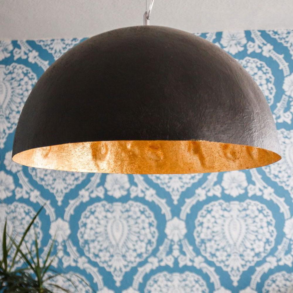 s luce blister pendelleuchte 40 cm schwarz gold pendellampe kaufen bei licht design. Black Bedroom Furniture Sets. Home Design Ideas