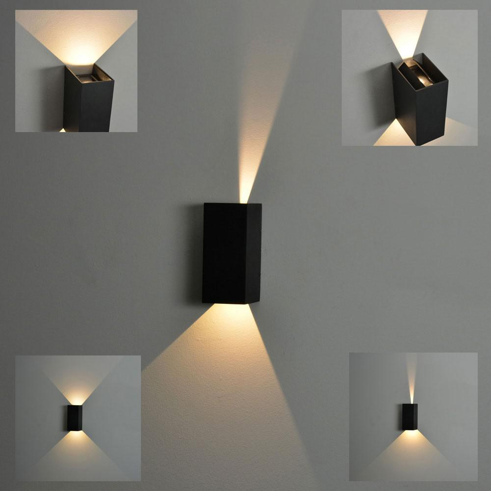 nordlux norma led aussen wandleuchte 2 x 167 lumen. Black Bedroom Furniture Sets. Home Design Ideas