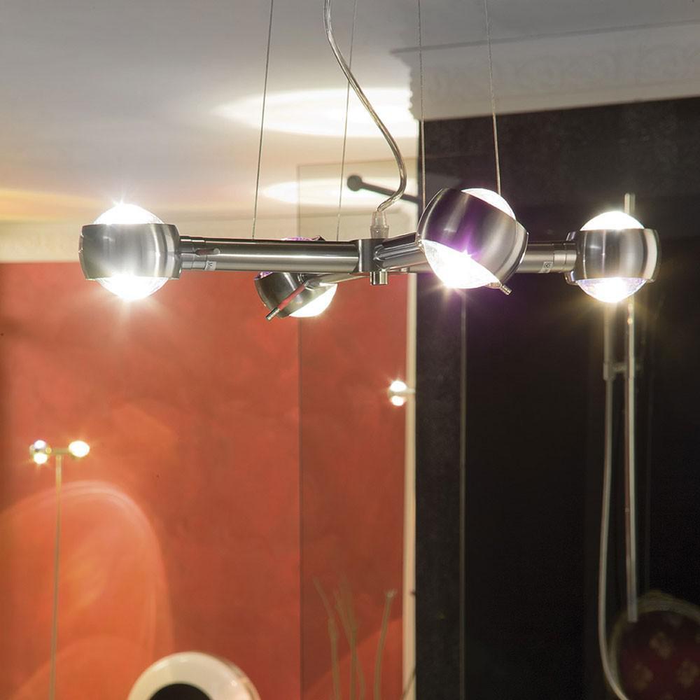s luce beam effekt h ngeleuchte 4 flammig alu. Black Bedroom Furniture Sets. Home Design Ideas