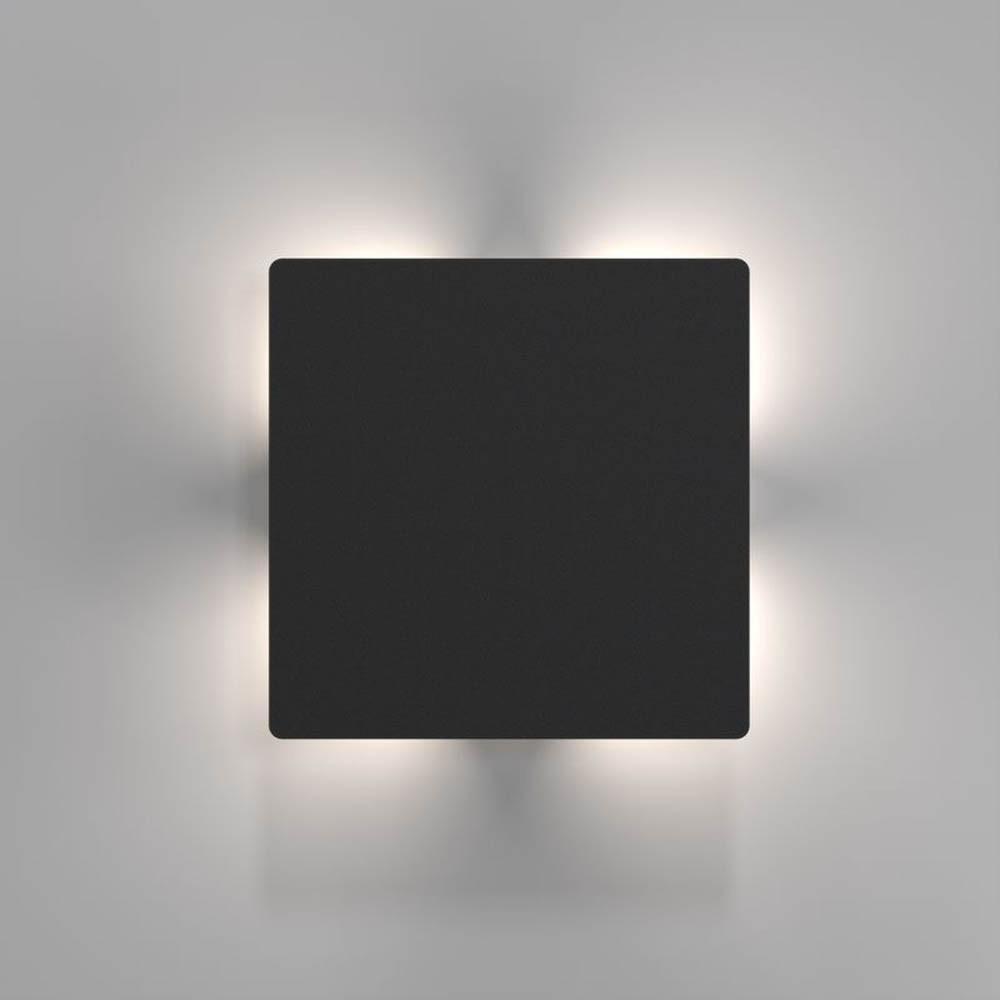nordlux quadro led aussen wandleuchte 673 lumen schwarz wandlampe aussen kaufen bei. Black Bedroom Furniture Sets. Home Design Ideas