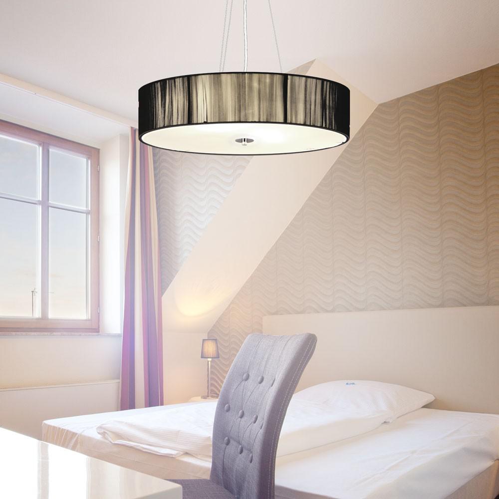 s luce twine l h ngeleuchte mit stoffschirm h ngelampe schwarz kaufen bei licht design. Black Bedroom Furniture Sets. Home Design Ideas