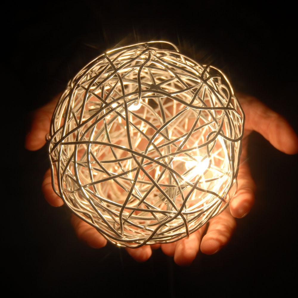 S luce mesh s drahtkugel tischleuchte 15 cm tischlampe for Schattenbilder selber machen