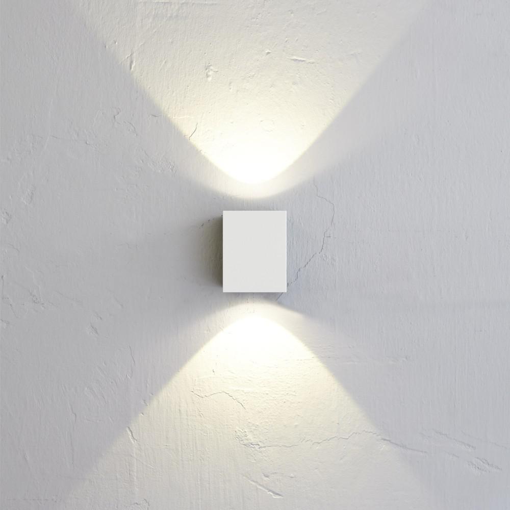 licht trend baleno quadi led wand aussenleuchte up down weiss wandlampe kaufen bei licht. Black Bedroom Furniture Sets. Home Design Ideas