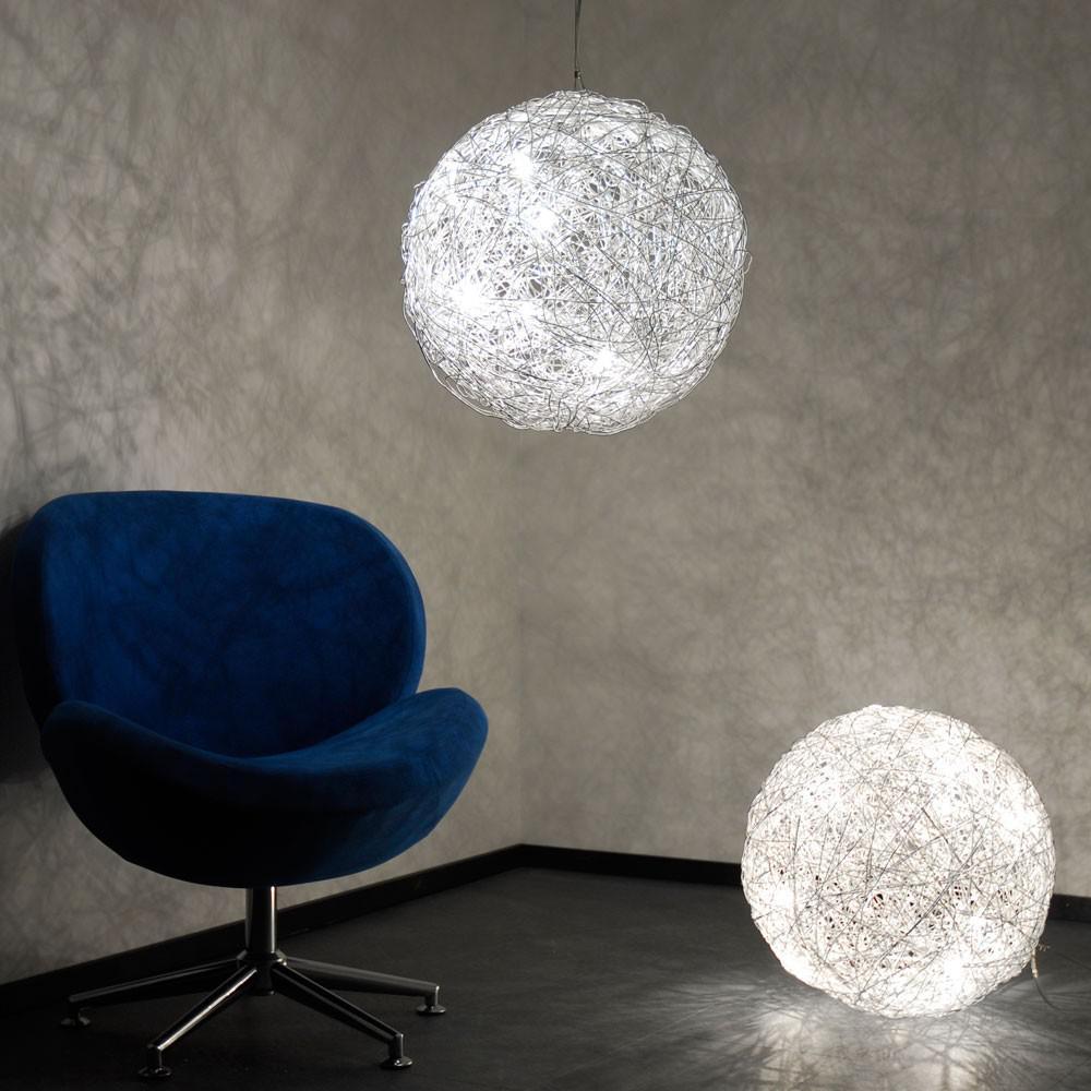 s luce mesh drahtkugel 50 cm pendellampe h ngeleuchte kugelleuchte kaufen bei licht design. Black Bedroom Furniture Sets. Home Design Ideas
