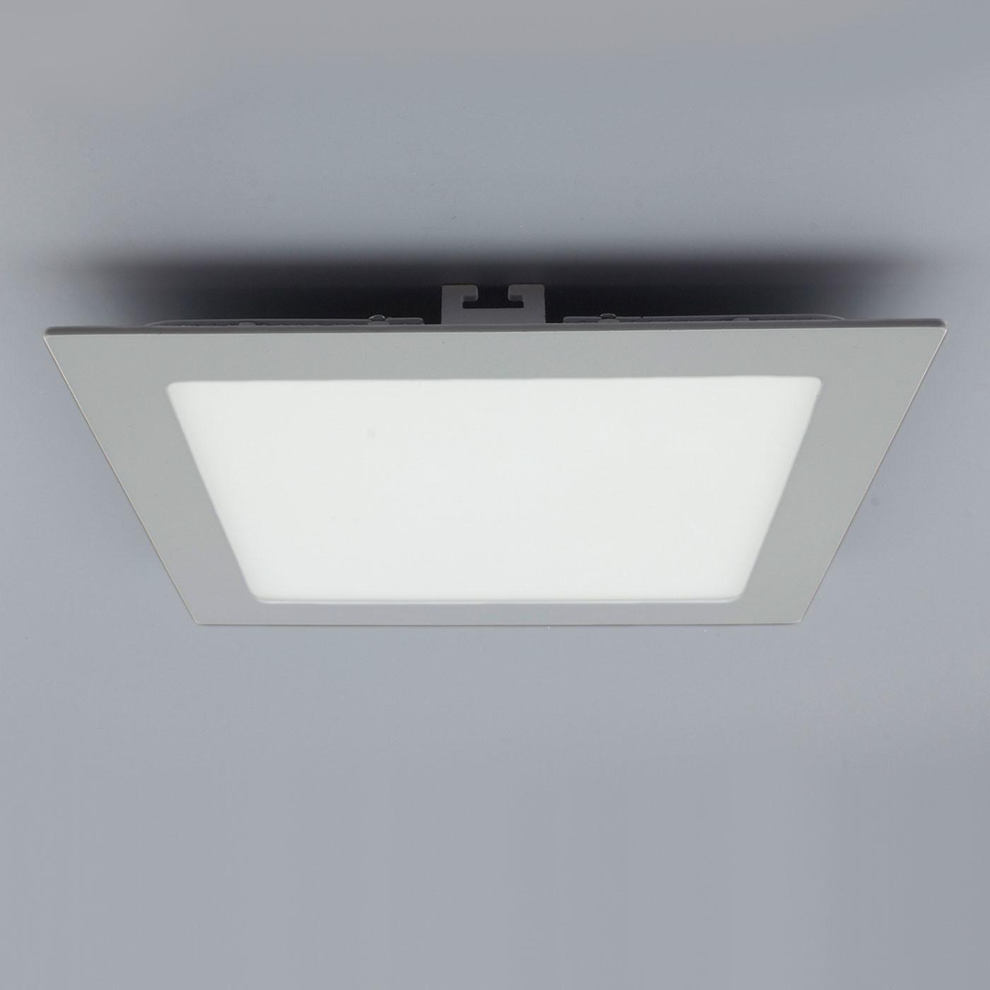 licht design 30564 einbau led panel 1440 lumen 22x22 cm neutral silber kaufen bei licht. Black Bedroom Furniture Sets. Home Design Ideas