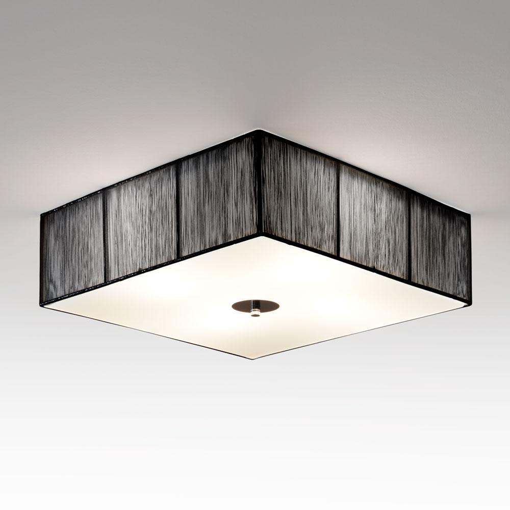 s luce twine deckenleuchte mit stoffschirm 45x45 cm. Black Bedroom Furniture Sets. Home Design Ideas