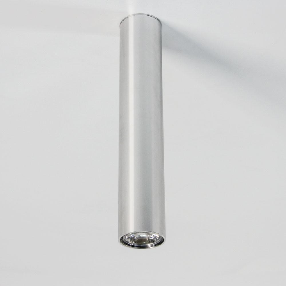 Designer Deckenleuchte Roma 30 Kaufen: S.LUCE Pole L Aufbau-Deckenleuchte 30 Cm / Alu-Glänzend