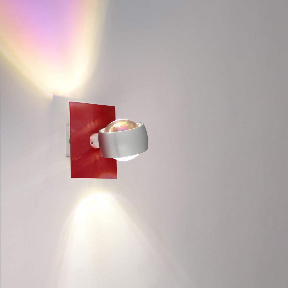s luce beam wandleuchte up down mit glaslinsen wandlampe wei kaufen bei licht design. Black Bedroom Furniture Sets. Home Design Ideas