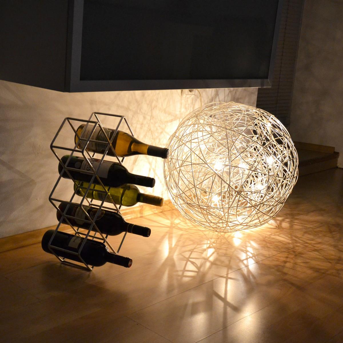 s luce mesh led drahtkugel stehlampe 50 cm bodenleuchte stehleuchte kaufen bei licht design. Black Bedroom Furniture Sets. Home Design Ideas