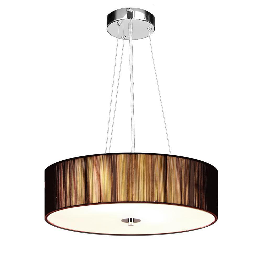 s luce twine m stoff h ngeleuchte h ngelampe stofflampe braun kaufen bei licht design. Black Bedroom Furniture Sets. Home Design Ideas