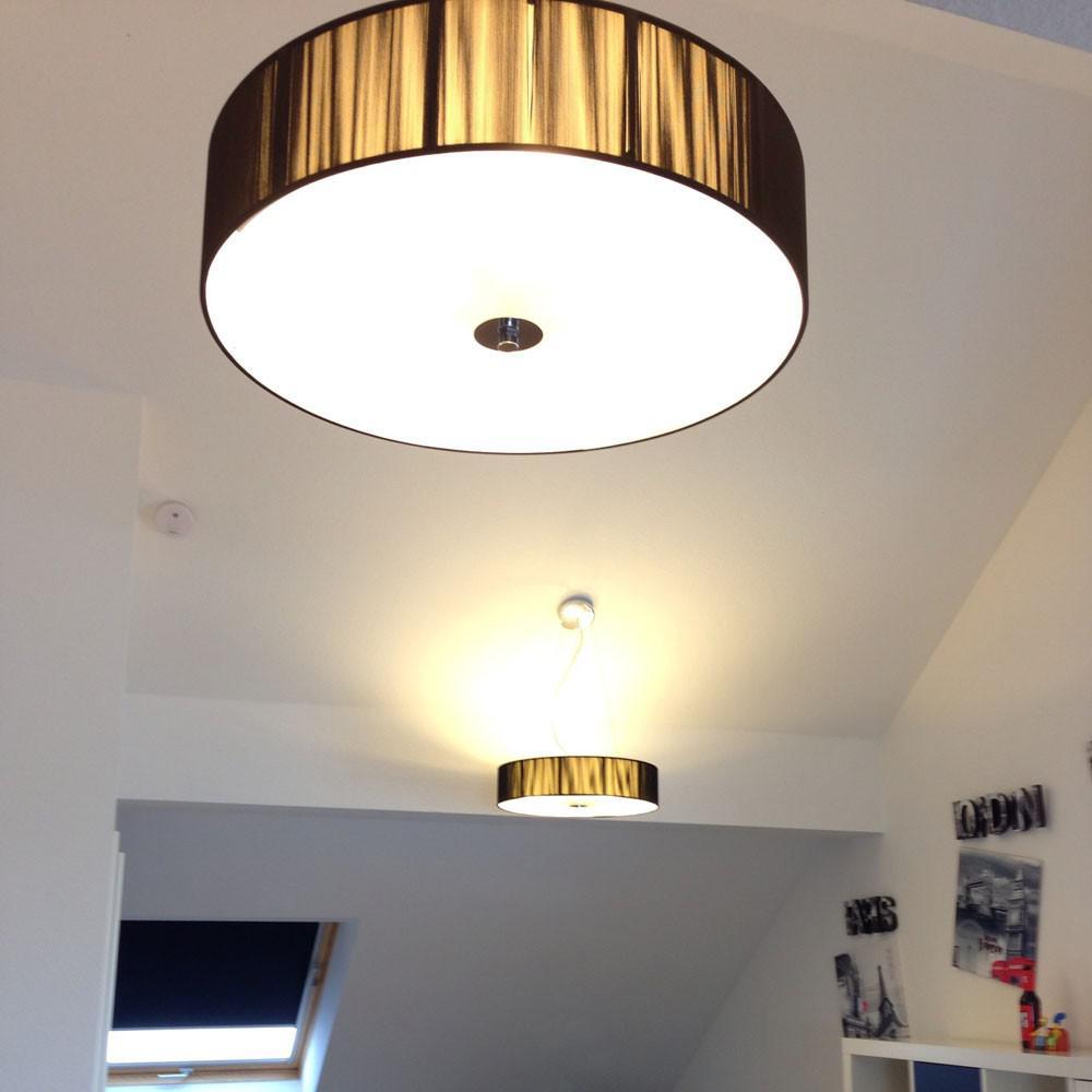 s luce twine m stoff deckenleuchte deckenlampe stofflampe schwarz kaufen bei licht design. Black Bedroom Furniture Sets. Home Design Ideas