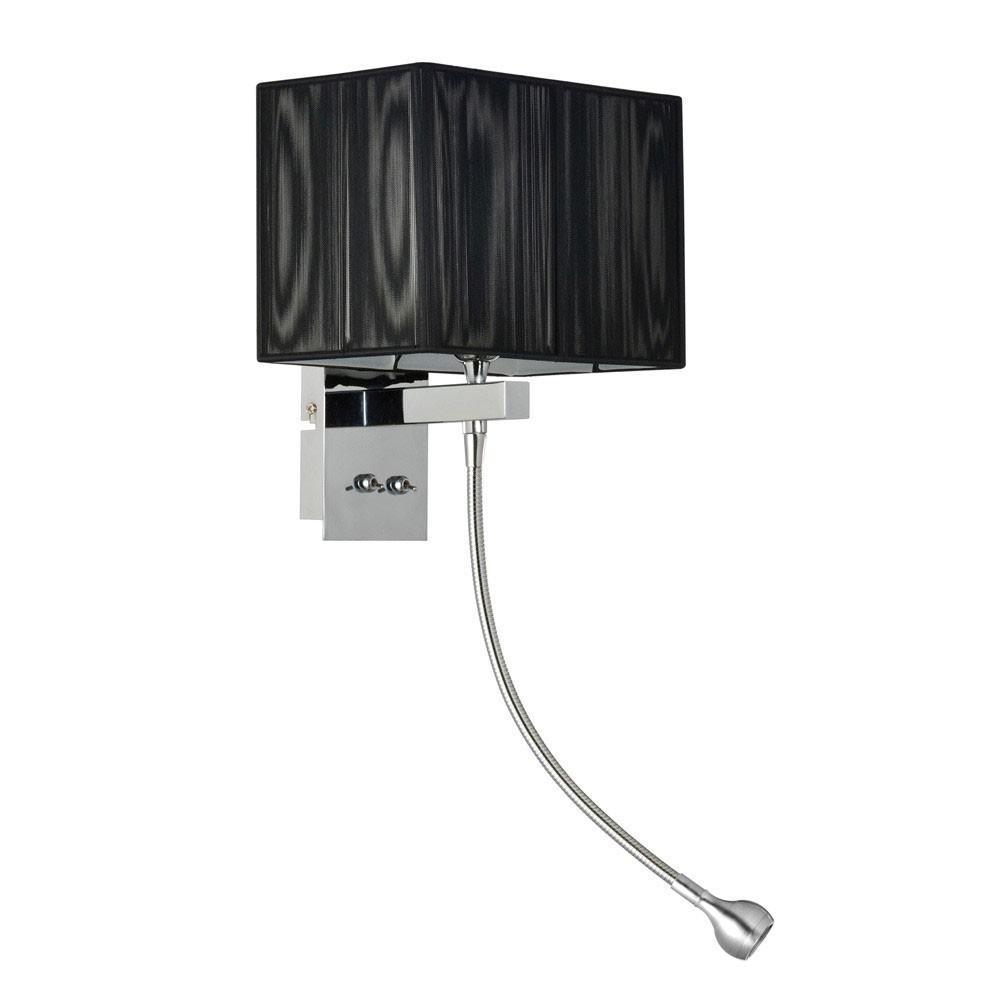 twine wandleuchte mit led lesearm und stoffschirm. Black Bedroom Furniture Sets. Home Design Ideas