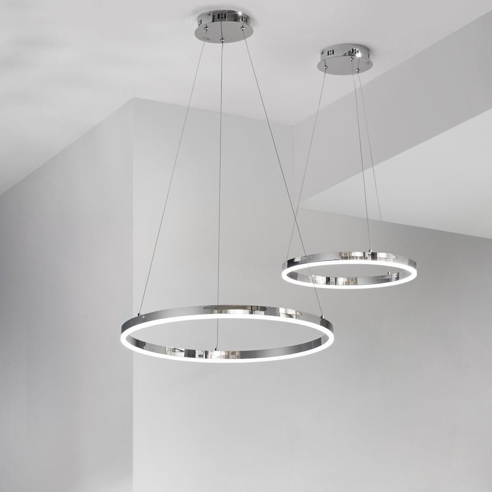 ring s / led-hängeleuchte Ø 40 cm / chrom wohnzimmer hängelampe