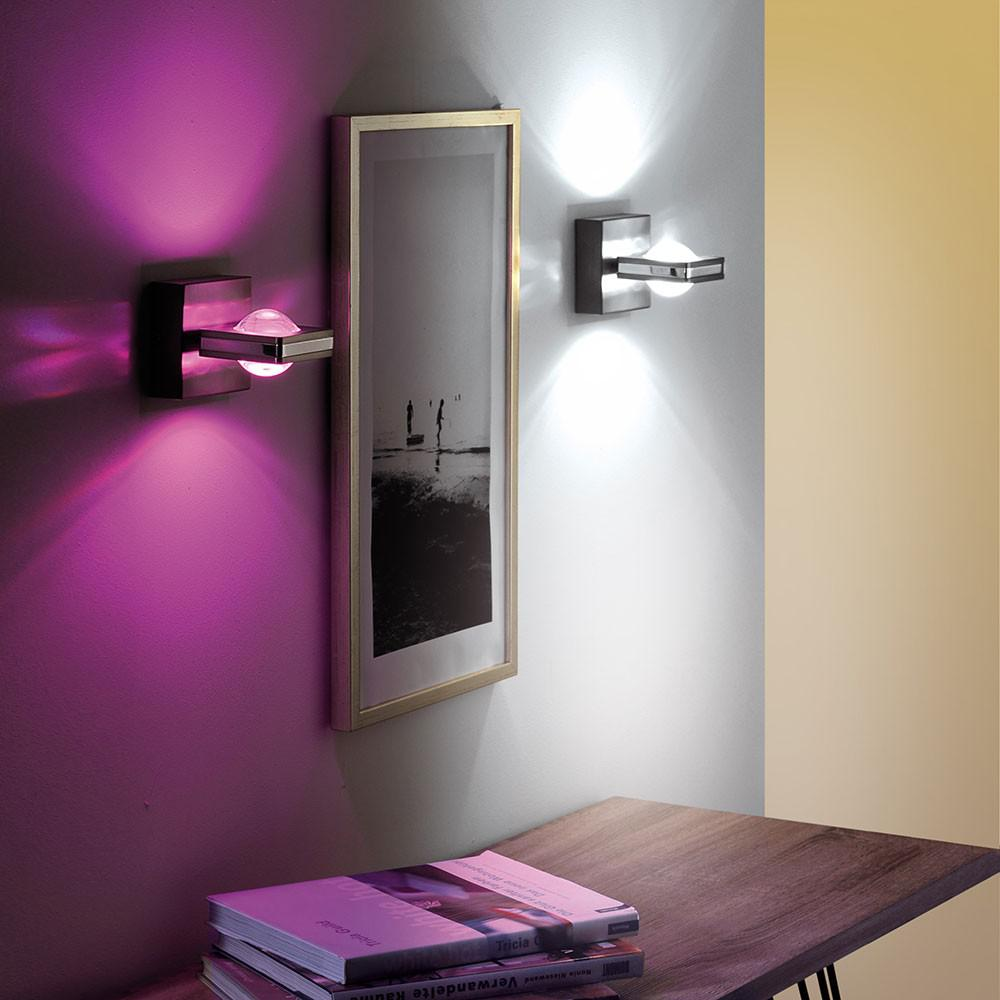 paul neuhaus 9115 55 fisheye led wandleuchte fb 2 x 3w 3000k rgb kaufen bei licht. Black Bedroom Furniture Sets. Home Design Ideas