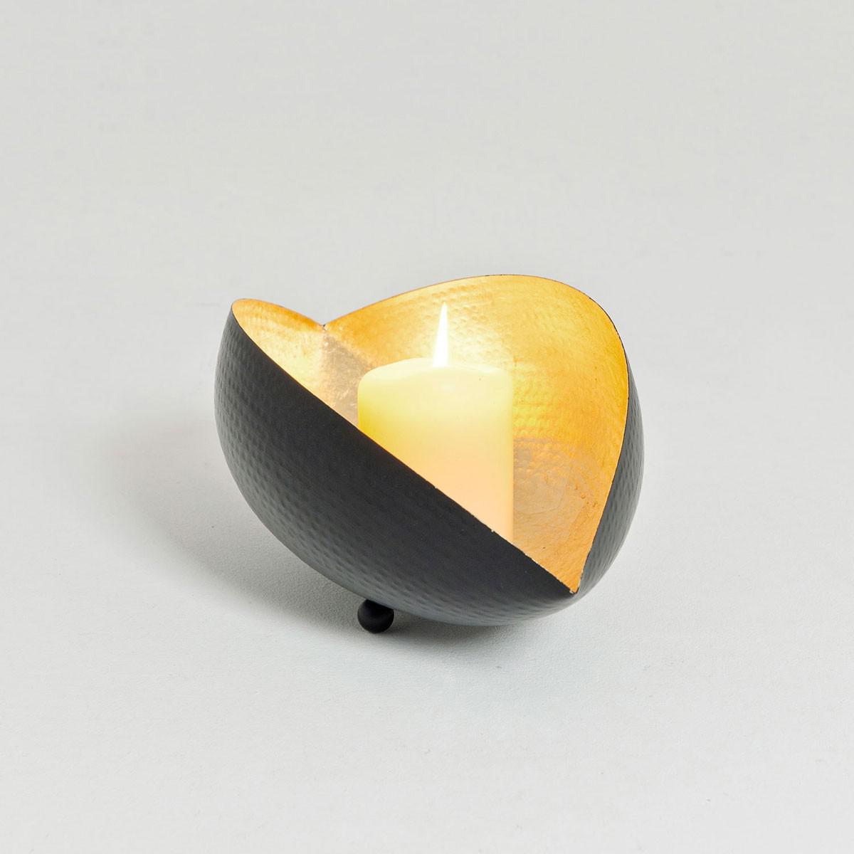 holl nder 375 3501 windlicht delta xl metall schwarz gold kaufen bei licht design skapetze. Black Bedroom Furniture Sets. Home Design Ideas