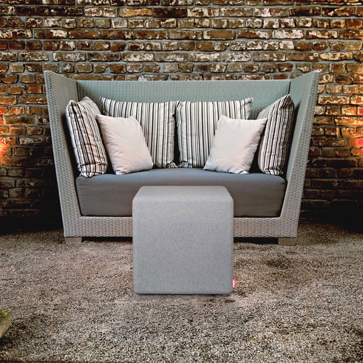 moree granite cube outdoor led sitzw rfel dekolampe aussen kaufen bei licht design. Black Bedroom Furniture Sets. Home Design Ideas