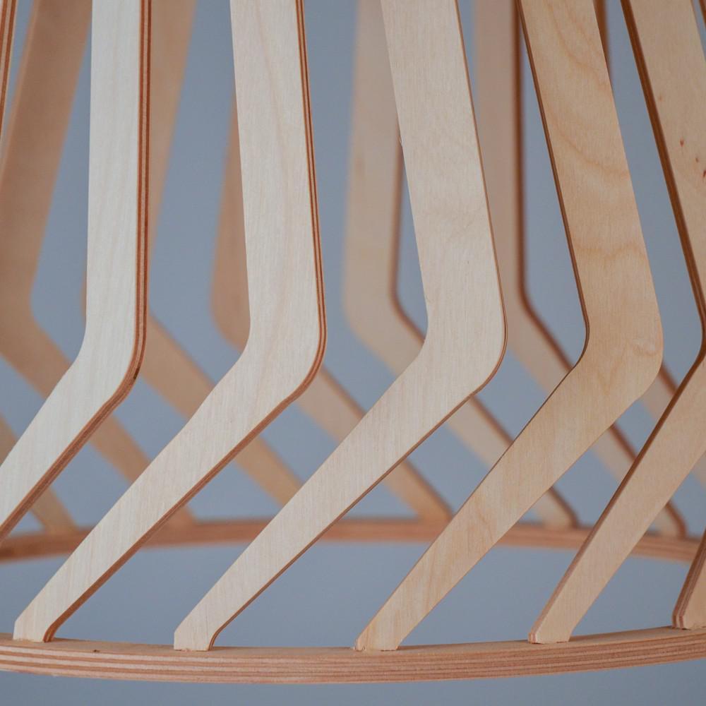licht trend woody holz pendelleuchte 34 cm buche h ngelampe h ngeleuchte kaufen bei. Black Bedroom Furniture Sets. Home Design Ideas