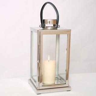 Holländer 240 3502 Laterne Lanterna Grande / Aluminium-Glas / Silber-Schwarz