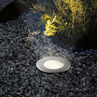s.LUCE Level / Bodeneinbaustrahler rund / Edelstahl IP65 / Einbaulampe Aussen