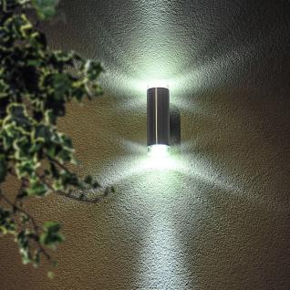 Riga-LED / LED Aussen-Wandleuchte / 2-flammig / Edelstahl Wandlampe Aussen