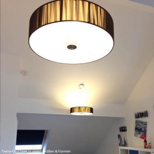 s.LUCE Twine M Stoff-Hängeleuchte / Hängelampe Stofflampe Braun - Vorschau 5