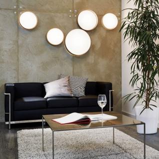 Licht-Trend Palo LED-Decken- oder Wandleuchte Ø 32 cm Textilschirm in Taupe