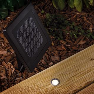 Solar-Einbauleuchten 5er-Set IP67 / Edelstahl, Schwarz